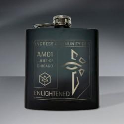 Agent Badge Flask