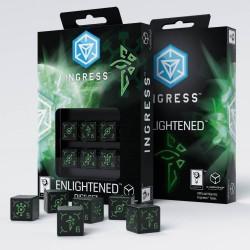 Ingress 6D6 Dice Set: Enlightened
